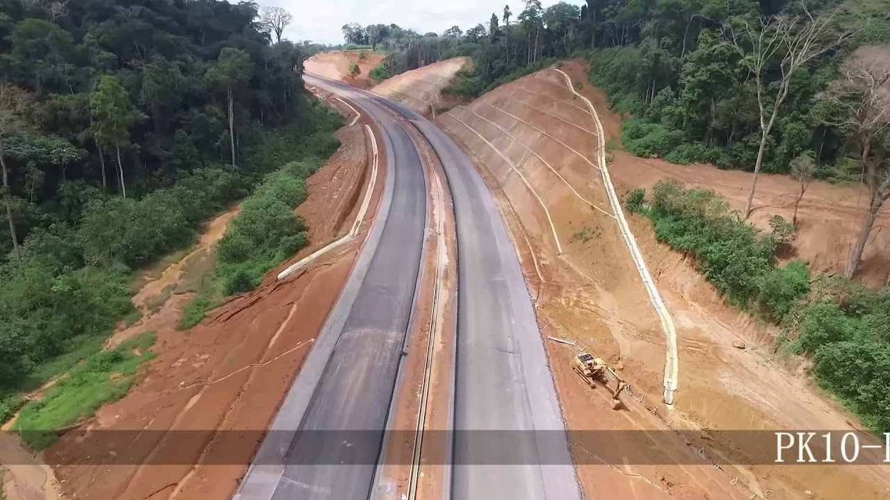 Douala-Yaounde highway in construction